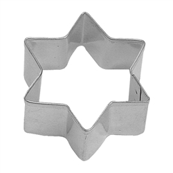 "Six Star Point 2"" Tinplated Steel Cookie Cutter"