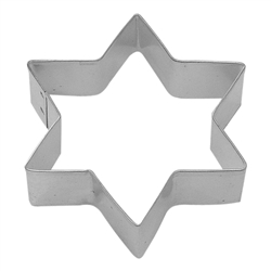 "Six Star Point 3.5"" Tinplated Steel Cookie Cutter"