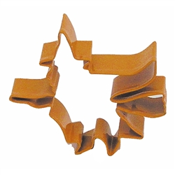 "Flying Witch 4.75"" Polyresin Coated Cookie Cutter Orange"