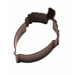 "Acorn 2.75"" Polyresin Coated Cookie Cutter Brown"