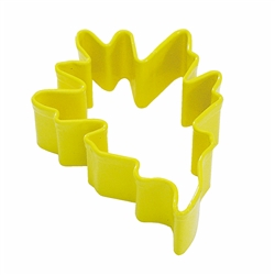 "Pin Oak Leaf 3.5"" Polyresin Coated Cookie Cutter Yellow"