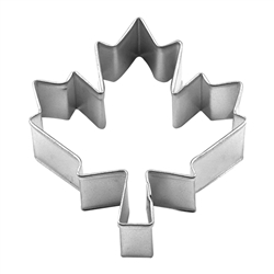 "Canadian Maple Leaf 3"" Tinplated Steel Cookie Cutter"