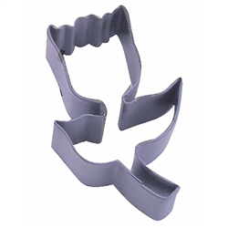"Tulip 3.25"" Polyresin Coated Cookie Cutter Lavender"