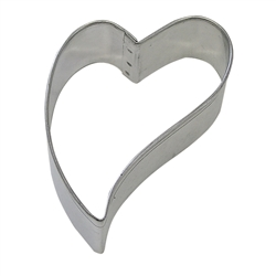 "Folk Heart 3"" Tinplated Steel Cookie Cutter"