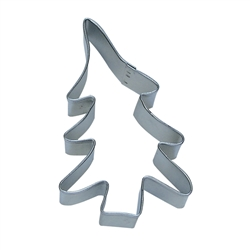 "Folk Tree 3.25"" Tinplated Steel Cookie Cutter"
