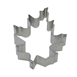 "Oak Leaf 3.5"" Tinplated Steel Cookie Cutter"
