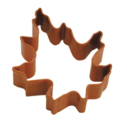 "Oak Leaf 3.5"" Polyresin Coated Cookie Cutter Orange"