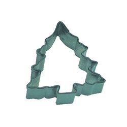 Mini Tree With Snow Polyresin Coated Cookie Cutter Green
