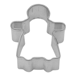 Mini Gingerbread Girl Tinplated Steel Cookie Cutter