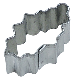 Mini Holly Leaf Tinplated Steel Cookie Cutter
