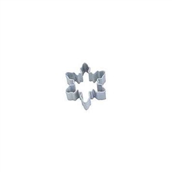 Mini Snowflake Polyresin Coated Cookie Cutter #1 White