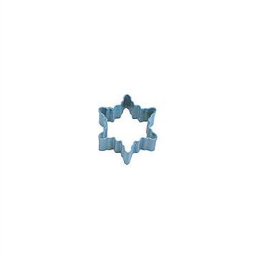 Mini Snowflake Polyresin Coated Cookie Cutter #2 Blue