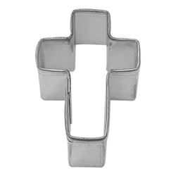 Mini Cross Tinplated Steel Cookie Cutter