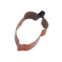 Mini Acorn Polyresin Coated Cookie Cutter Brown