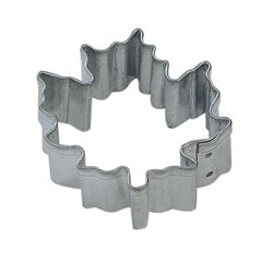 Mini Canada Maple Leaf Tinplated Steel Cookie Cutter