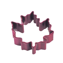 Mini Canada Maple Leaf Polyresin Coated Cookie Cutter Red