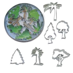 Tree 6 Piece Cookie Cutter Set In Tin Box