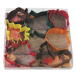 Autumn Leaf Colorful 7 Piece Cookie Cutter Set