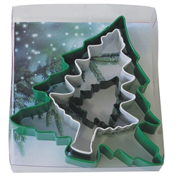 Tree 3 Piece Cookie Cutter Set - Different Colors