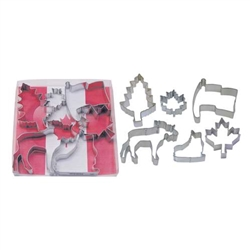 Canada Theme 6 Piece Cookie Cutter Set