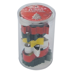 Christmas 8 Piece Colorful Cookie Cutter Set In Cylinder