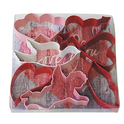 Valentine Colorful Cookie Cutter 7 Piece Set
