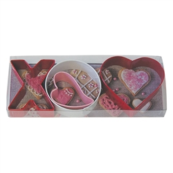 X&O Colorful Cookie Cutter 4 Piece Set