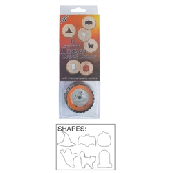 Halloween 6 Piece Linzer Cookie Cutter Set