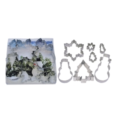 Snowman, Snowflake, Tree 7 Piece Cookie Cutter Set
