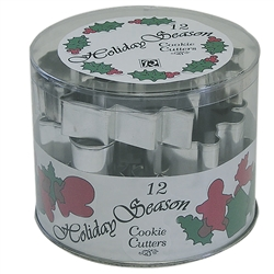 Holiday Season Tub 12 Piece Cookie Cutter Set