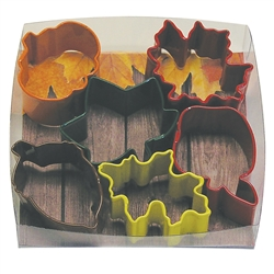 Small Autumn Colorful 6 Piece Cookie Cutter Set
