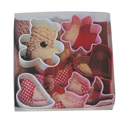 Small Valentine Colorful 6 Piece Cookie Cutter Set