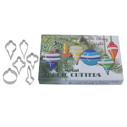 Christmas Ornament 6 Piece Cookie Cutter Set