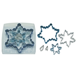 Snowflake 5 Piece Colorful Cookie Cutter Set