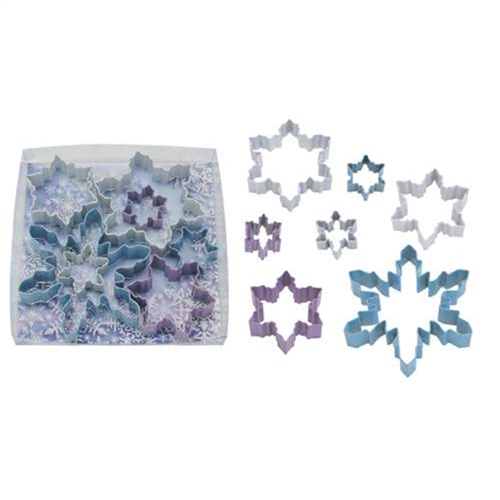 Snowflake 7 Piece Colorful Cookie Cutter Set