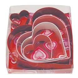 Heart Cookie Cutter Colorful 5 Piece Set