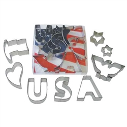 USA 8 Piece Cookie Cutter Set