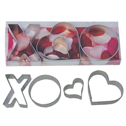 X & O 4 Piece Cookie Cutter Set