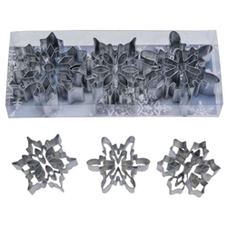 Snowflake 3 Piece Cookie Cutter Set