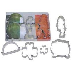 St Patrick's Day Cookie Cutter 5 Piece Set