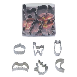 Small Halloween Cookie Cutter 6 Piece Set in Can
