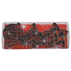 Christmas 3 Piece Cookie Cutter with Cut Outs Set
