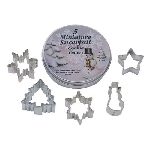 Small Snowfall Cookie Cutter Set of 5 In Can