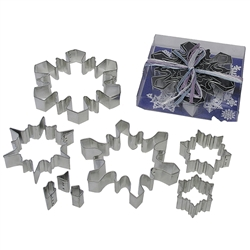 Snowflake Cookie Cutters - 8 Piece Set