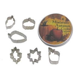 Small Leaf Cookie Cutter 6 Piece Set In Can
