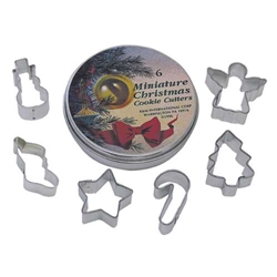 Small Christmas Cookie Cutter Set of 6 In Can