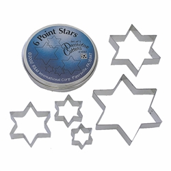 Six-Point Star Cookie Cutter 5 Piece Set Can
