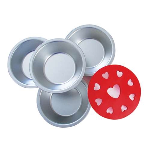 Small Pans & Heart Pie Topper Set