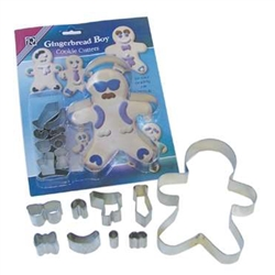 Gingerbread Boy Cookie Cutter Dress Up Set - 9 Pieces