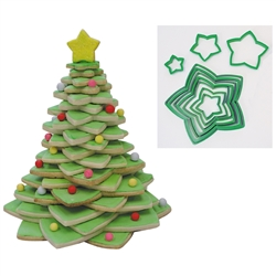 Christmas Tree Cookie Cutter Set - 10 Piece